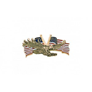 Gold Eagle With USA Flagt 3  X 1 3/4