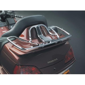 Flat Chrome Luggage Rack with Rubber Insert