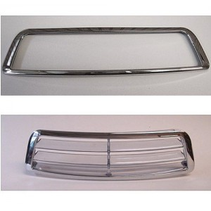GL1800 Chrome Windshield Vent Trim Accent