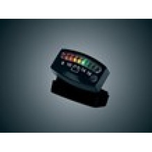 L.E.D. Battery Gauge, Black